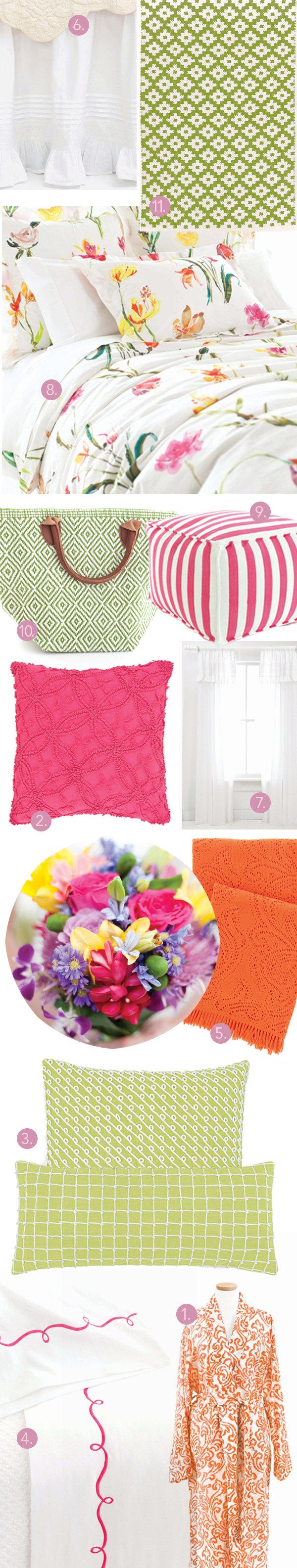 Pine Cone hill white bed skirt Dash and Albert Samode sprout rug trimaran pouf chadna decorative pillows embroidered hem fuchsia sheet set damask robe paisley lace throw spring bouquet white window panels