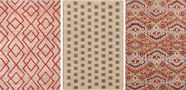 using graphic rugs in small space decorating fresh american