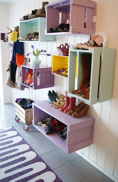 Thea's Mania colorful mudroom