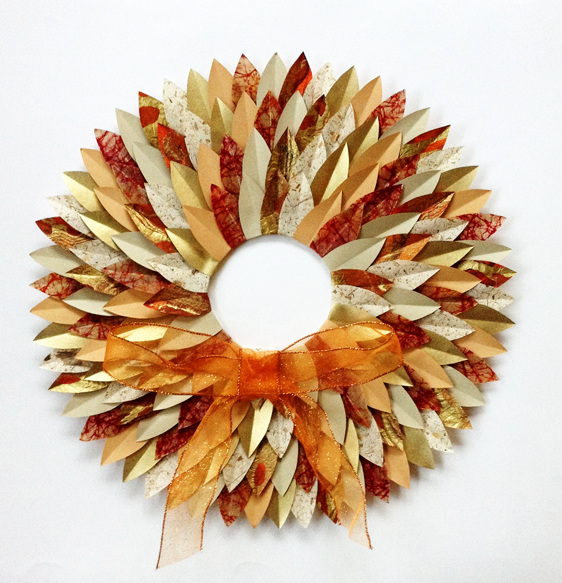 Autumn-Paper-Leaves-Wreath-My Paper Arts