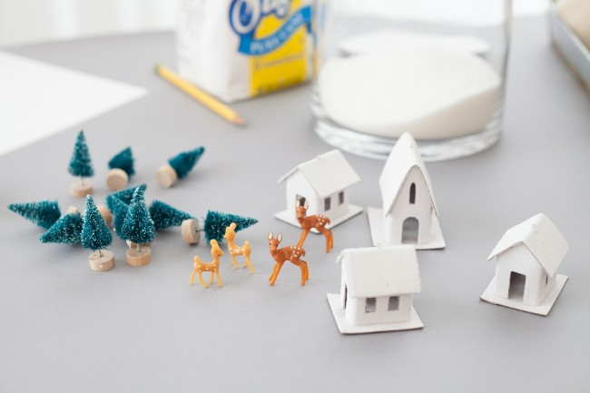 DIY winter dioramas supplies