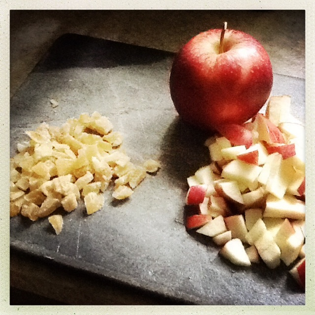 cut apples and cheese