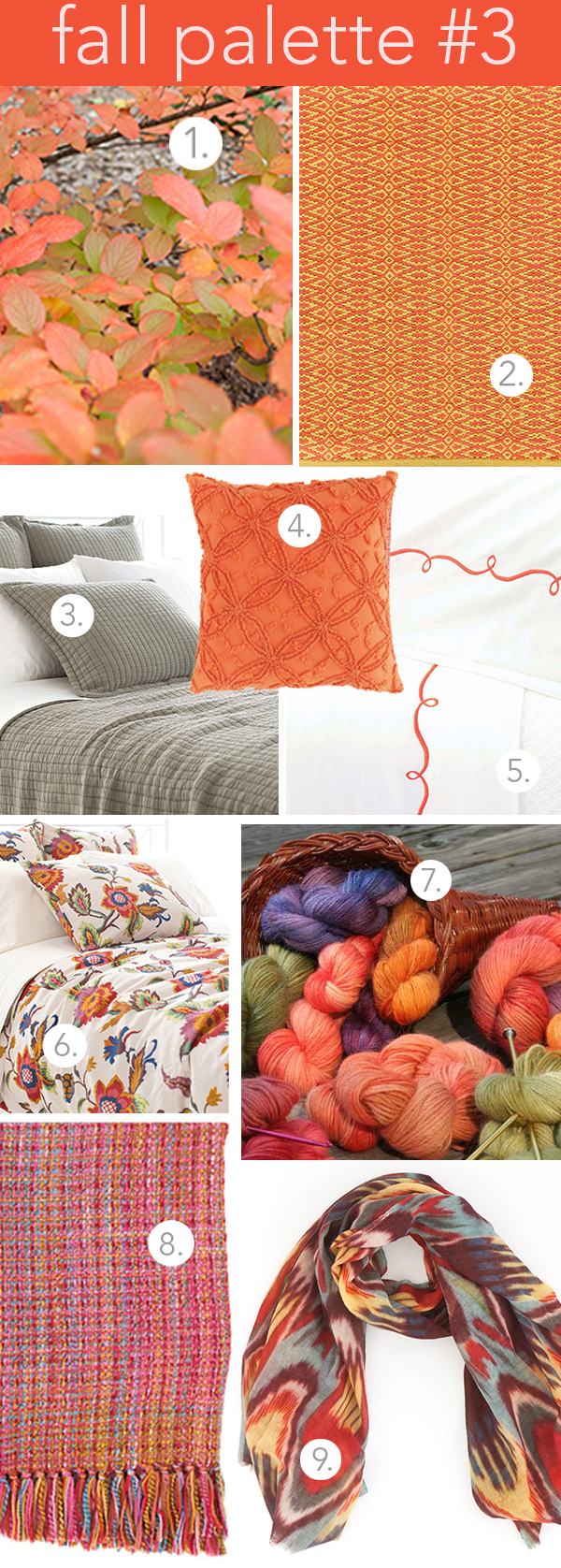 fall color decorating palette