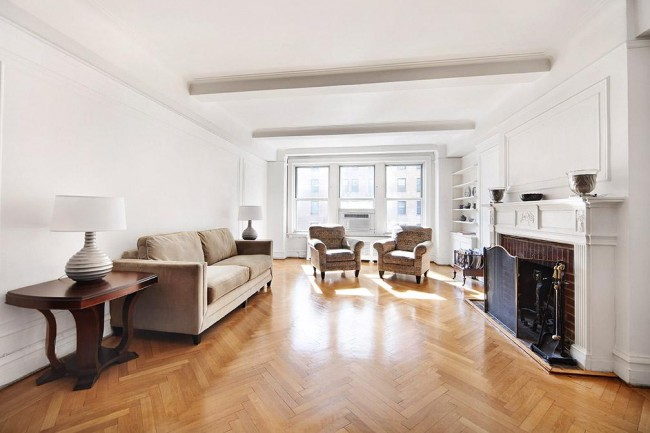 Corcoran Group Real Estate herringbone wood floor