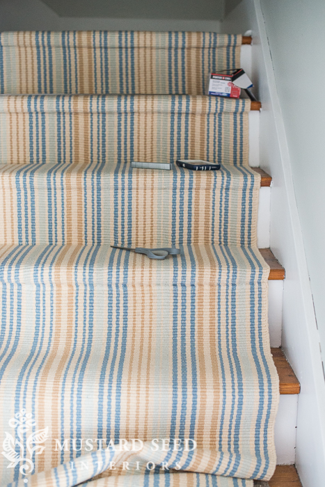 Diy Stair Runner Installation With Miss Mustard Seed