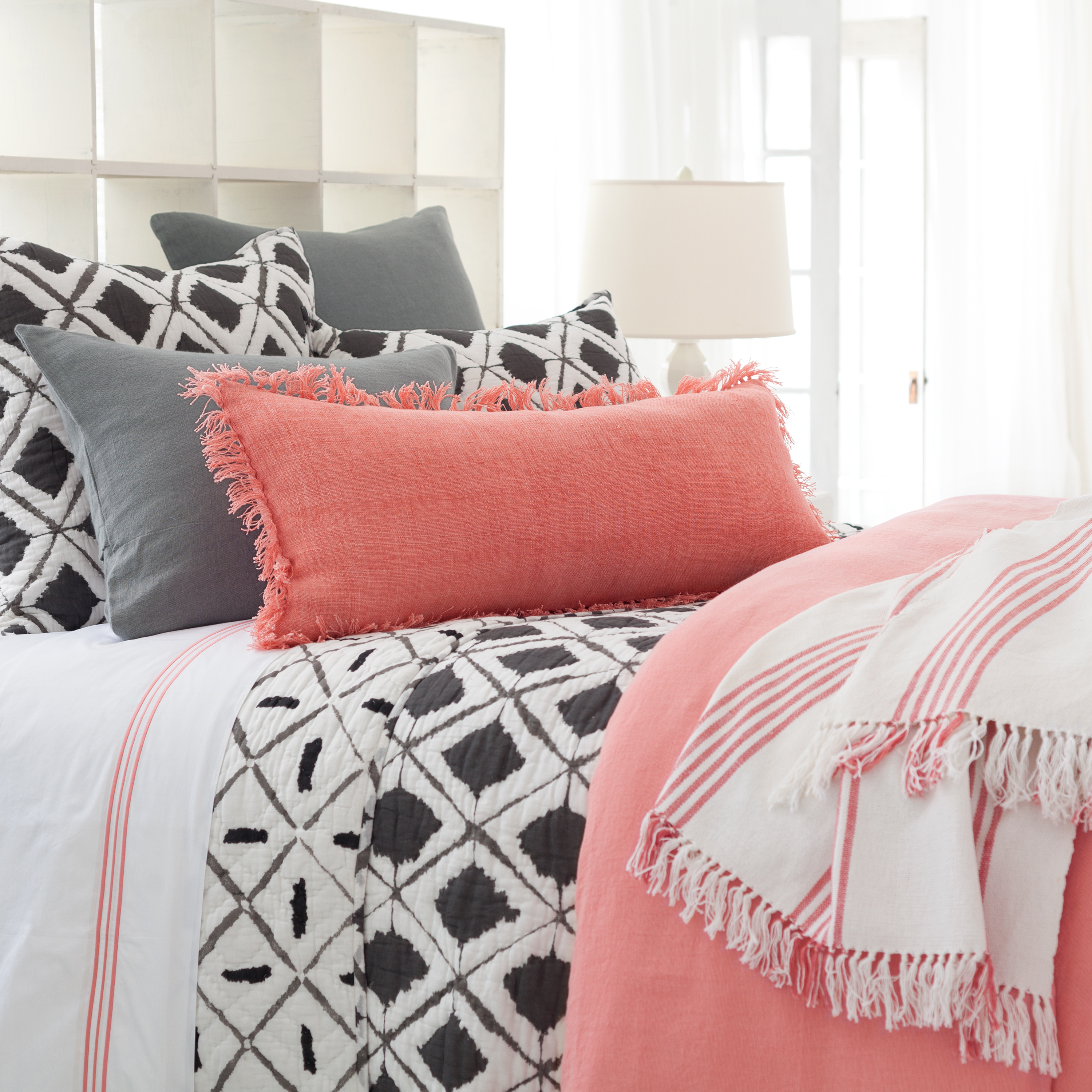 67fce7e5921 Let's Get Graphic: Bold Prints for the Bedroom