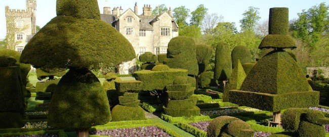 English topiary garden Levens Hall UK