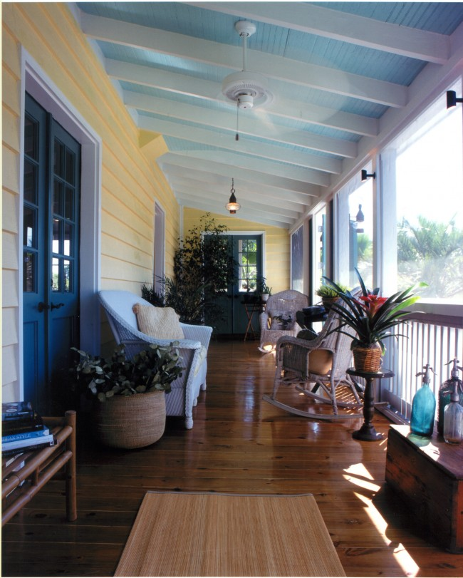 Herlong Architects haint blue porch ceiling