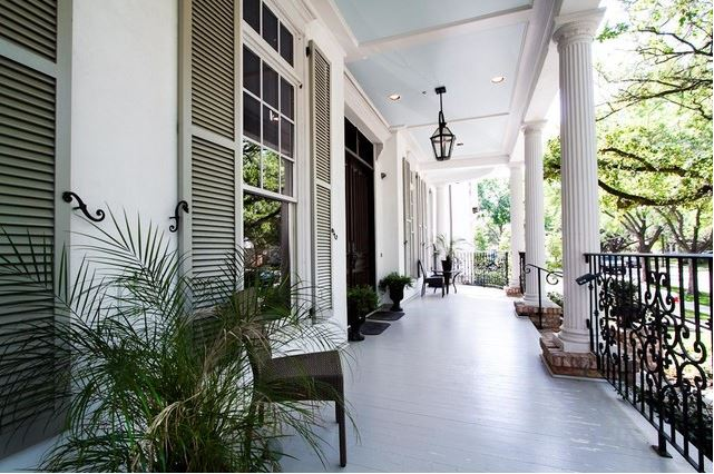 West University New Orleans Brickmoondesign Via Houzz Photo Our Town Plans Blue Porch Ceiling