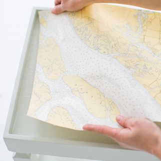 decoupage map table 7