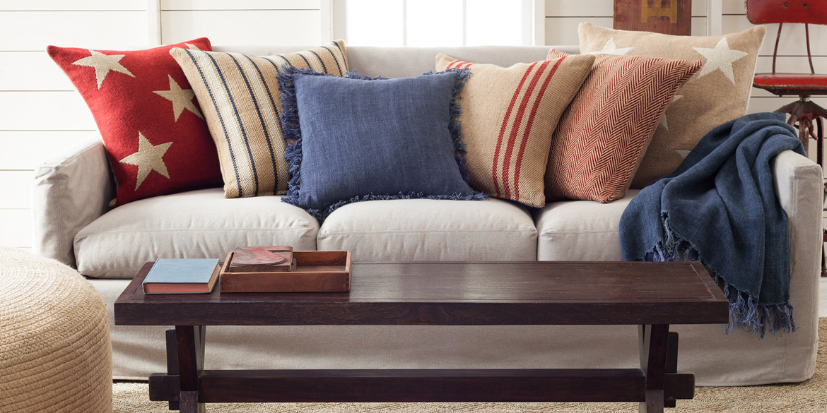 Casual Chic Decorating With Red White And Blue