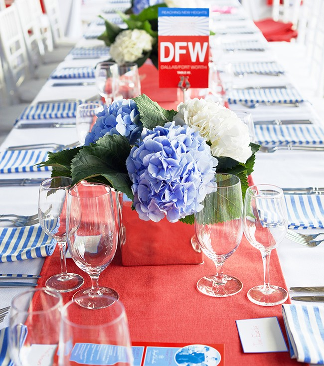 red white blue outdoor dinner party decorating ideas