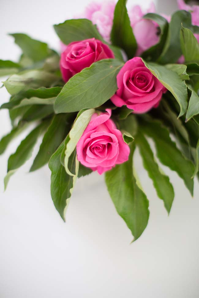 Make These Simple Diy Peony Amp Rose Flower Centerpieces