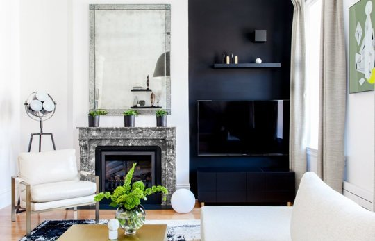 Apartment Therapy how to decorate around a TV