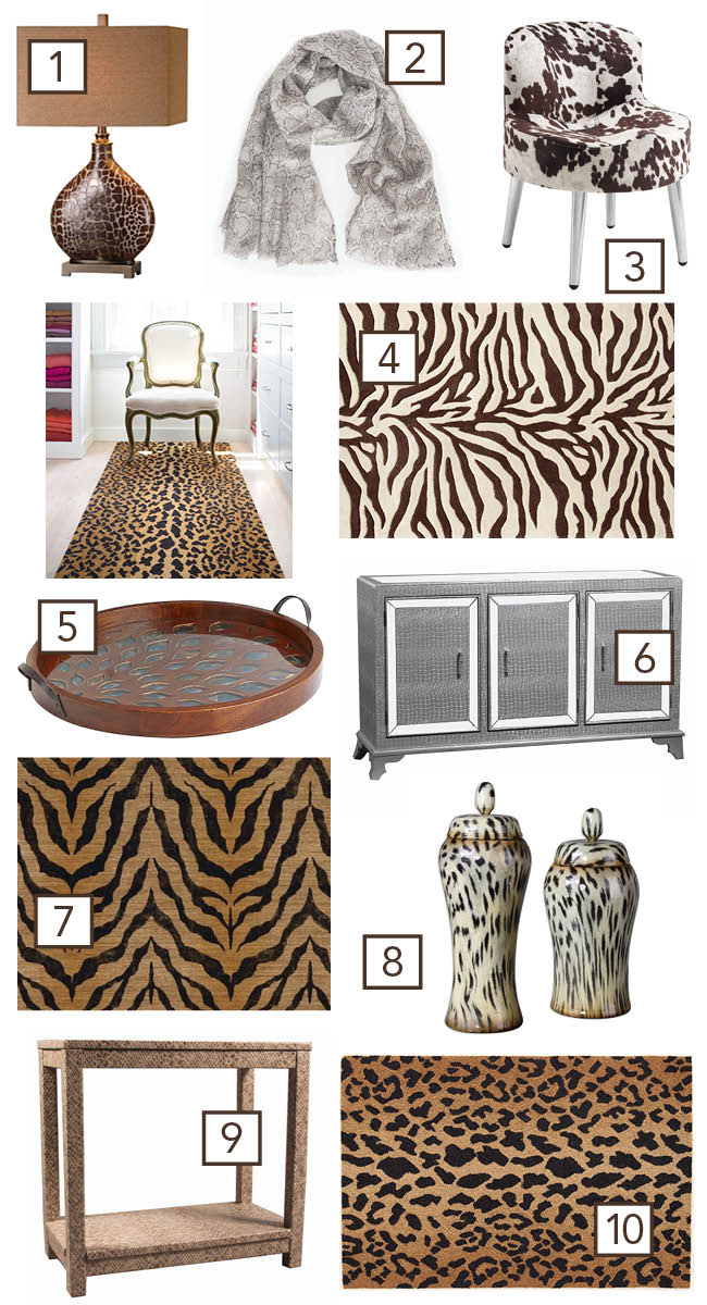 How To Use Animal Prints In Home Decor