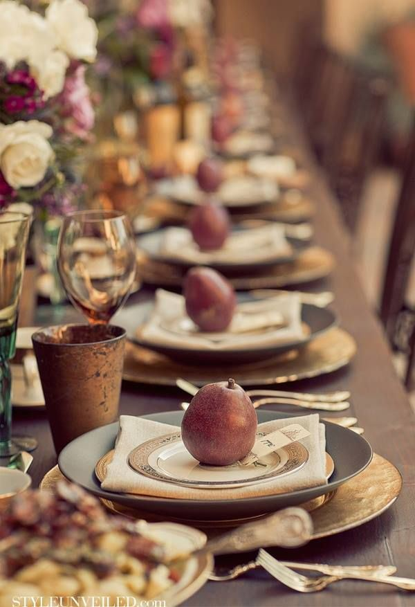 Style Unveiled gold thanksgiving table Liz Marie blog