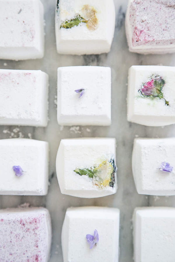 DIY nontoxic bath fizzies Sugar and Charm