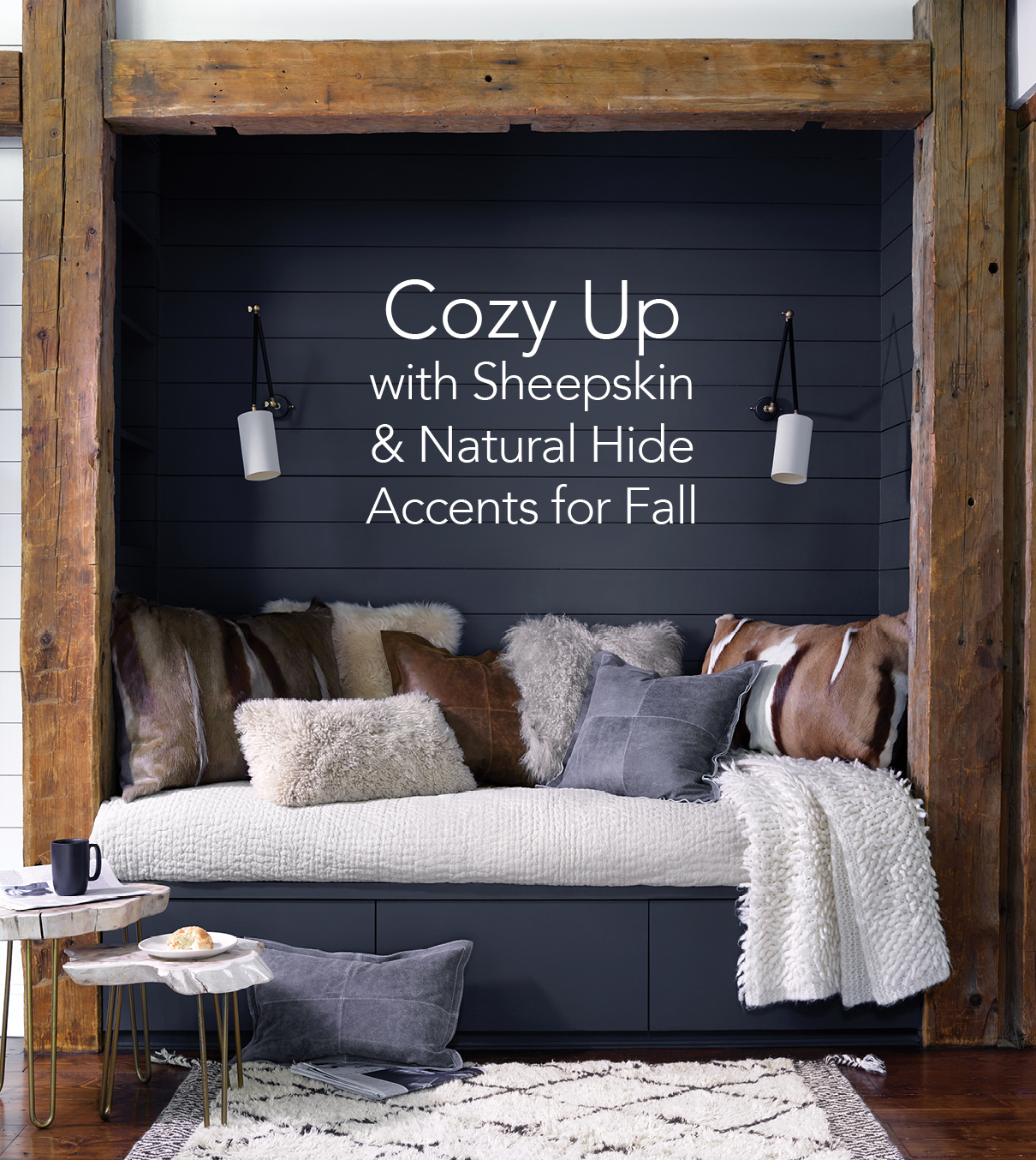 Cozy Up With Sheepskin and Natural Hide Accents for Fall | Annie Selke's Fresh American Style