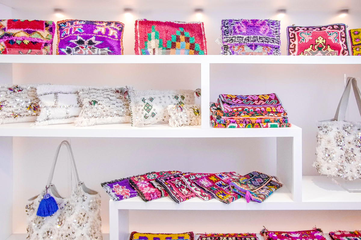Soukie Modern bags made from Moroccan textiles (photo credit: The Social Bar) | Fresh American Style