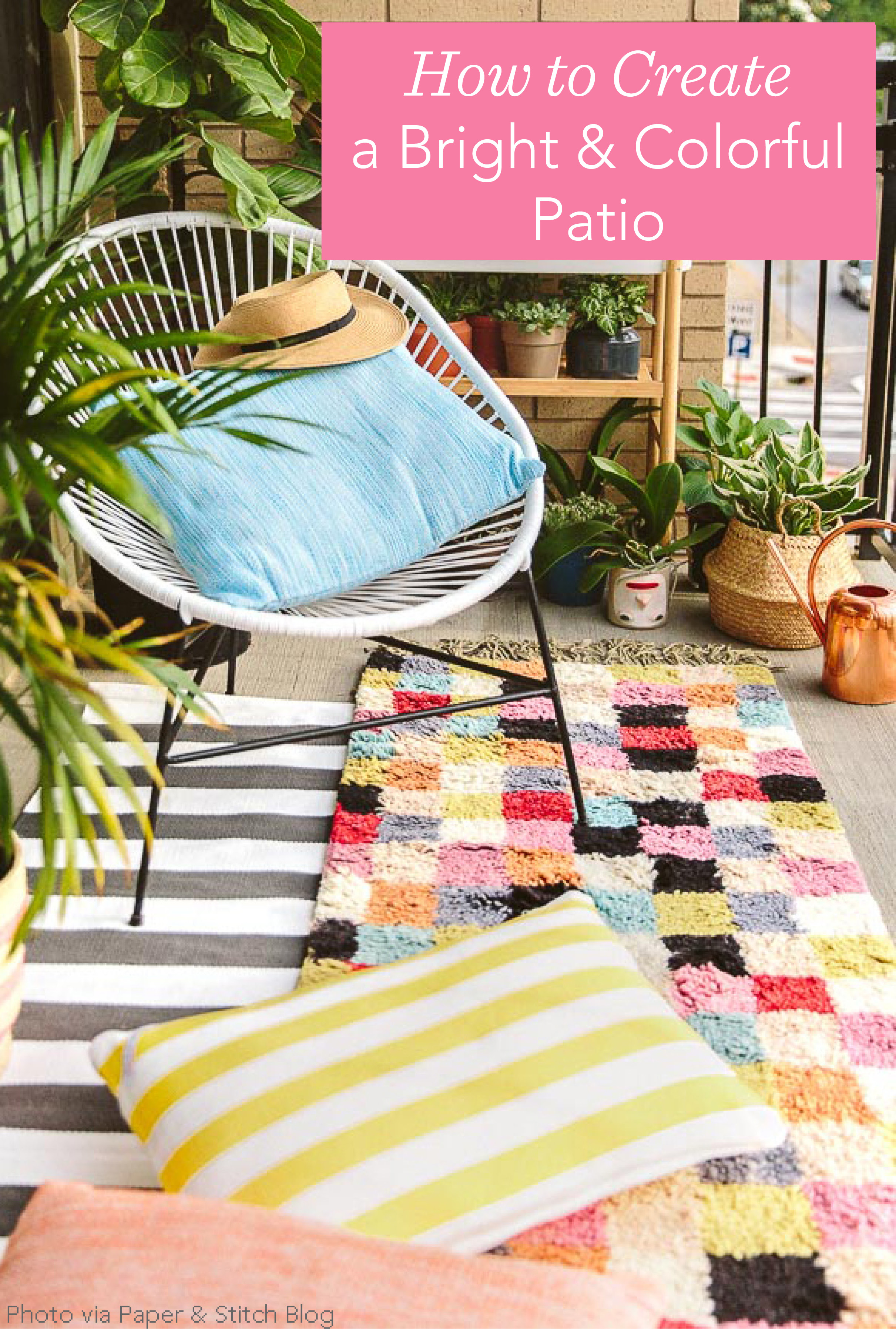 How to Create a Bright and Colorful Patio | Fresh American Style
