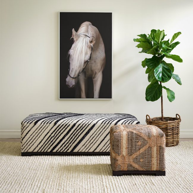 School of Decorating: Get on the Hot Seat with Our Ever-Popular Rug Ottomans   Annie Selke's Fresh American Style