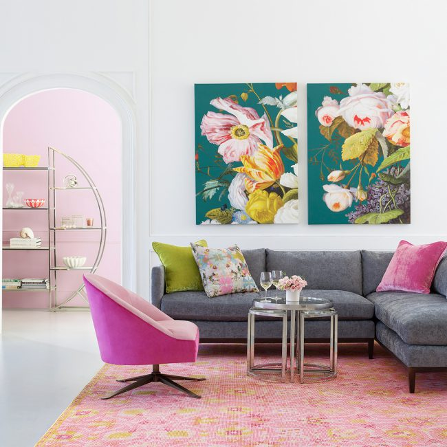 How We Hue: A Grey and Pink Inspired Paint Palette   Annie Selke's Fresh American Style