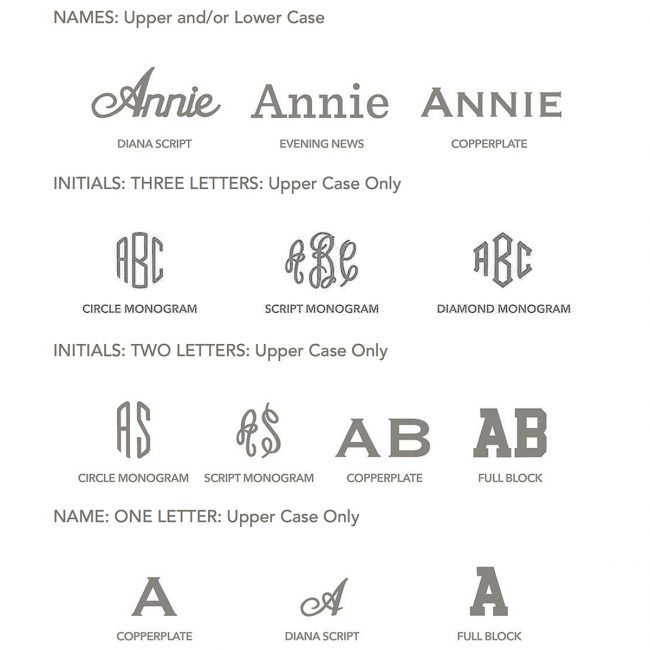 Ready, Set…Get Your 'Gram On: Monogramming Now Available! | Annie Selke's Fresh American Style