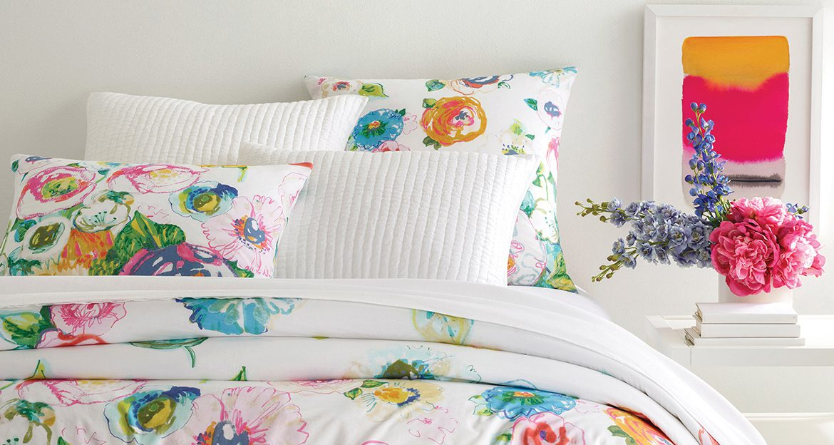 How to Use Floral Prints to Create a Chic Designer Bed | Annie Selke's Fresh American Style